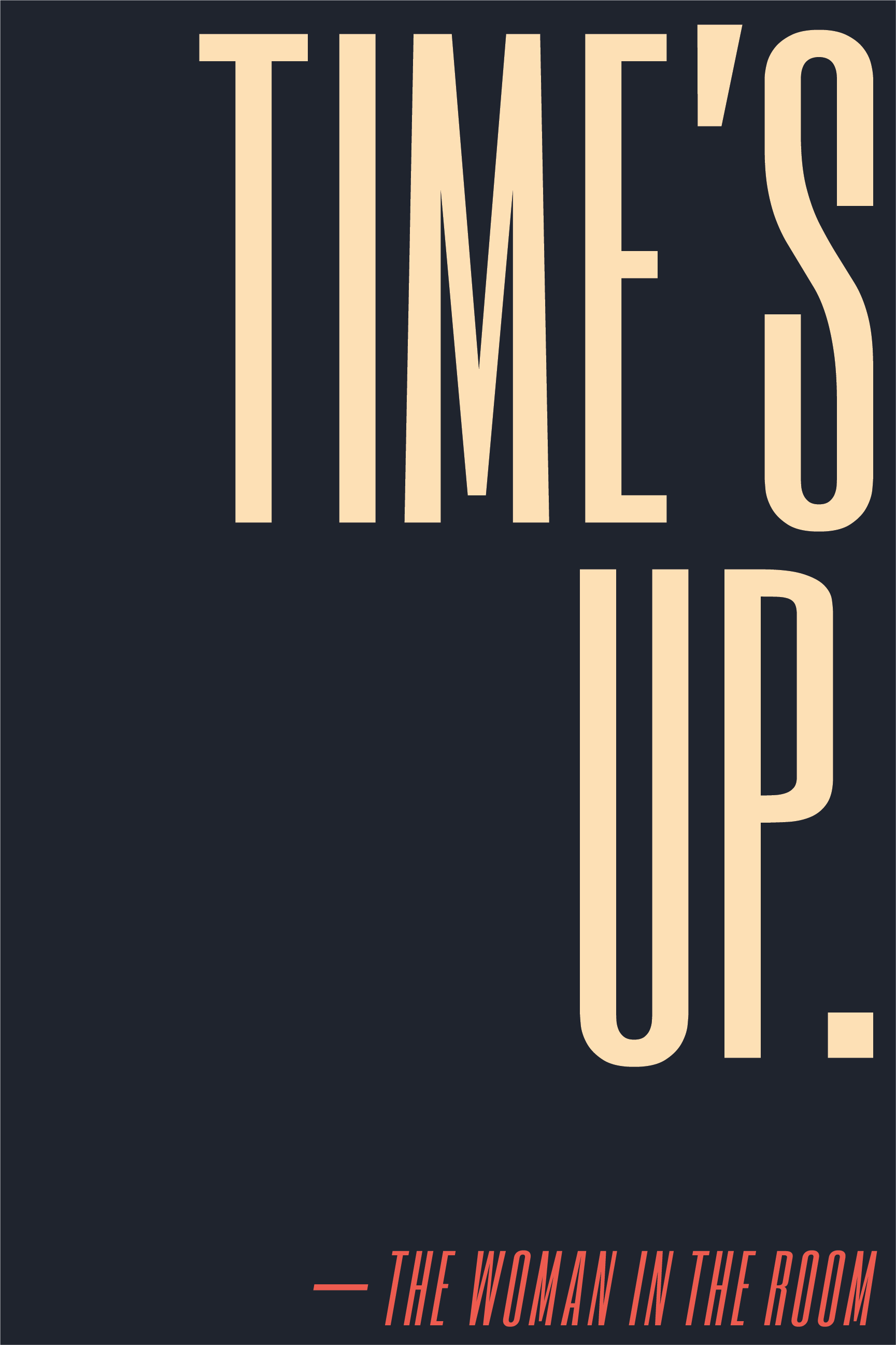 Time's up.